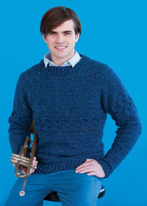 crochet cable men