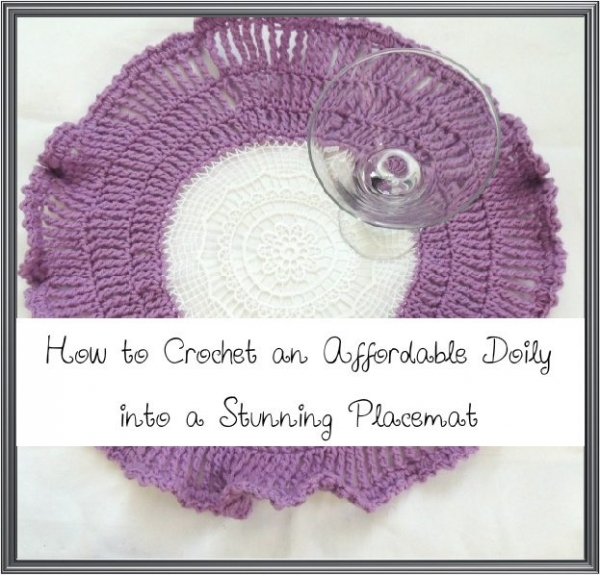 crochet doily placemat 600x575 10 Examples of Crochet Items for the Home, a Pinterest Selection
