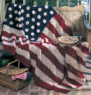 crochet flag blanket 2013 in Crochet