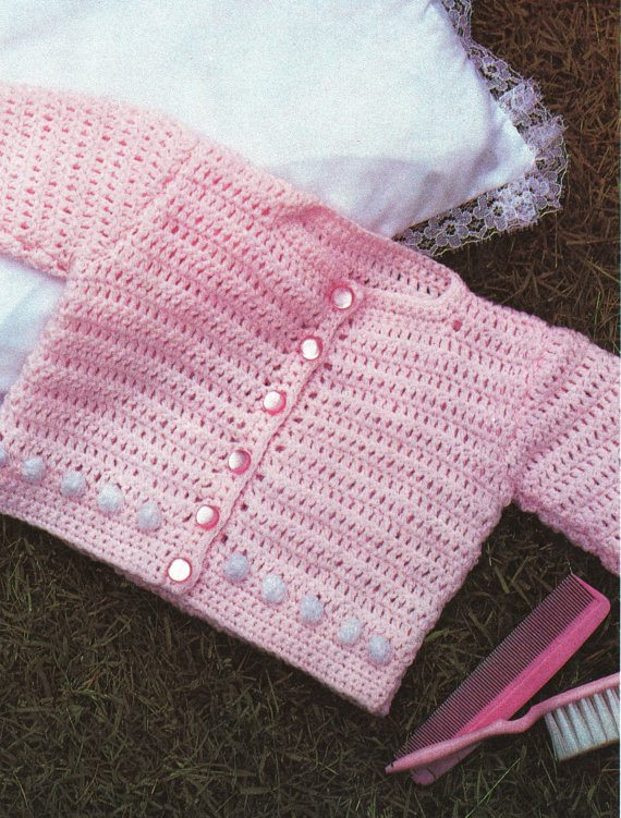 crochet girls cardigan1 100 Unique Crochet Shirts and Sweaters