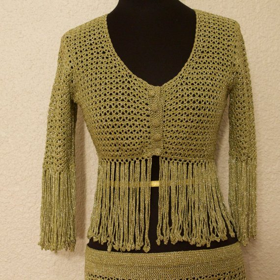 crochet gold fringe crop top 100 Unique Crochet Shirts and Sweaters