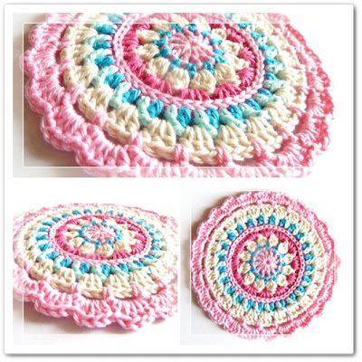 crochet mandala dishcloth