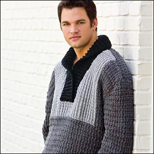 crochet men pullover sweater