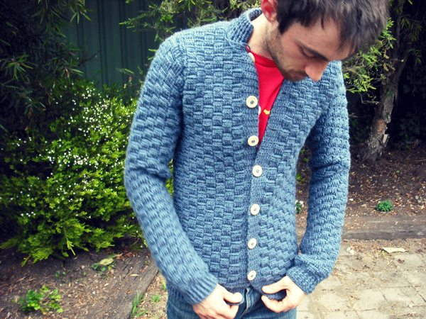 crochet mens cardigan