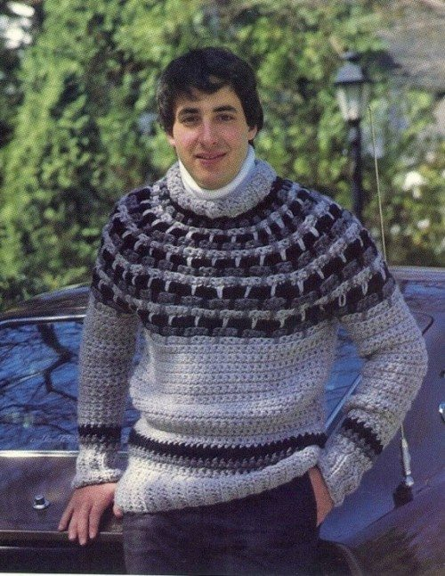crochet mens sweater