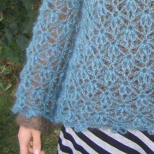 crochet mohair sweater