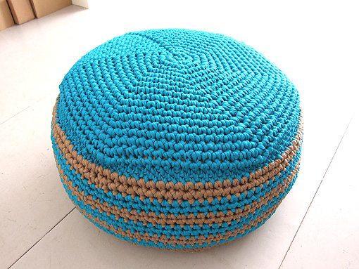 Link love this week in crochet blogging with lots of free crochet patterns - Crochet pouf ottoman pattern free ...
