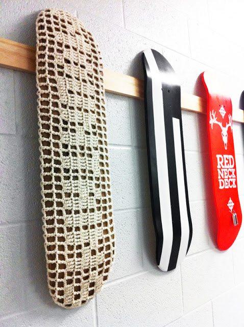 crochet skate art