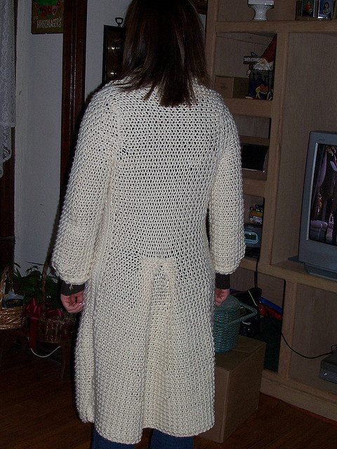 crochet sweater coat
