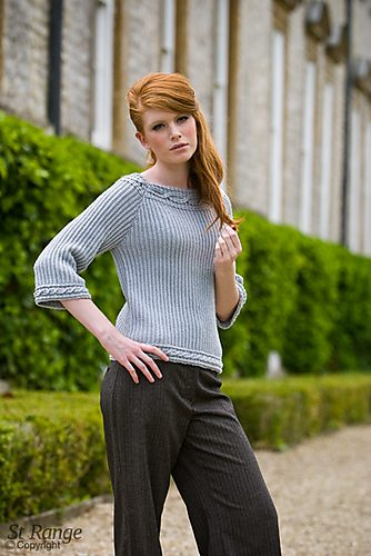 crochet sweater ribbed