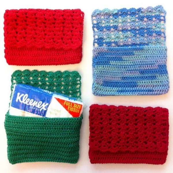 crochet tissue holder