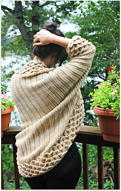 crocodile stitch crochet sweater