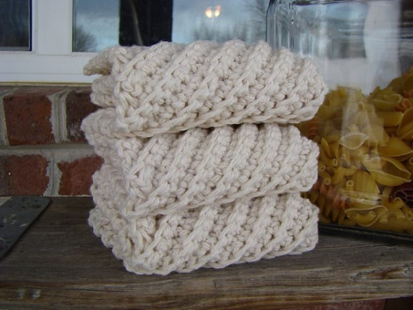 Dishcloth Crochet Pattern Diagonal images