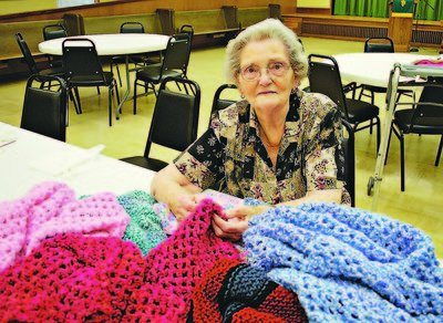 elderly crocheter