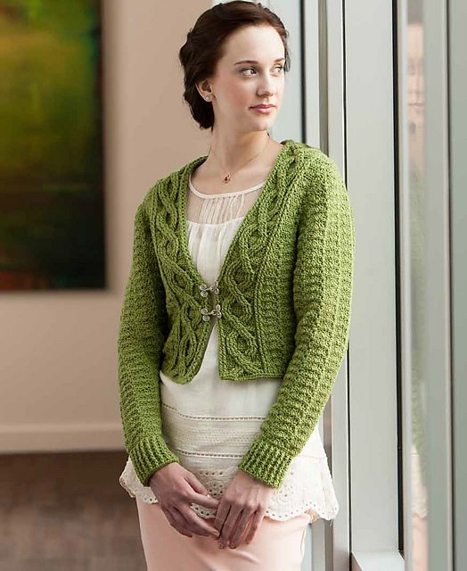 foliage crochet shrug