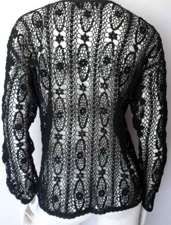 halston crochet sweater 2013 in Crochet: Crochet Fashion and Crochet Jewelry