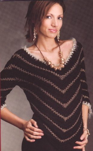 metallic yarn crochet sweater pattern