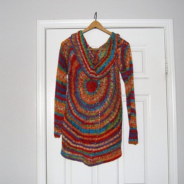 pinwheel crochet sweater pattern