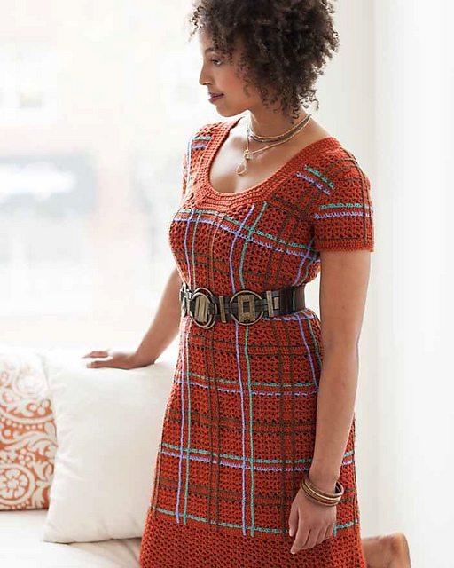 plaid crochet dress robyn chachula