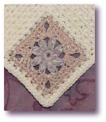 puff flower crochet dishcloth