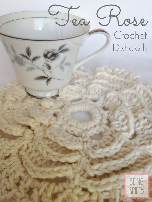 rose crochet dishcloth pattern