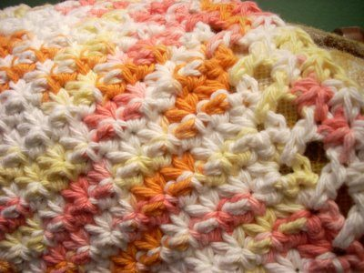 starburst dishcloth pattern