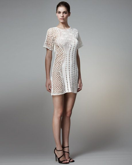 stella mccartney crochet dress