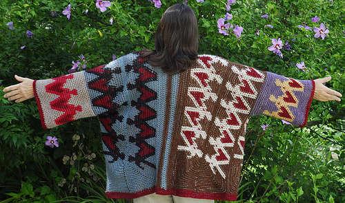 tapestry crochet sweater