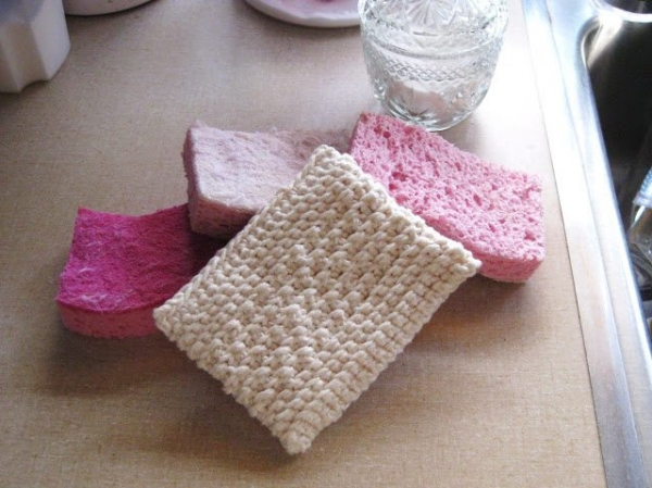 textured crochet dishcloth