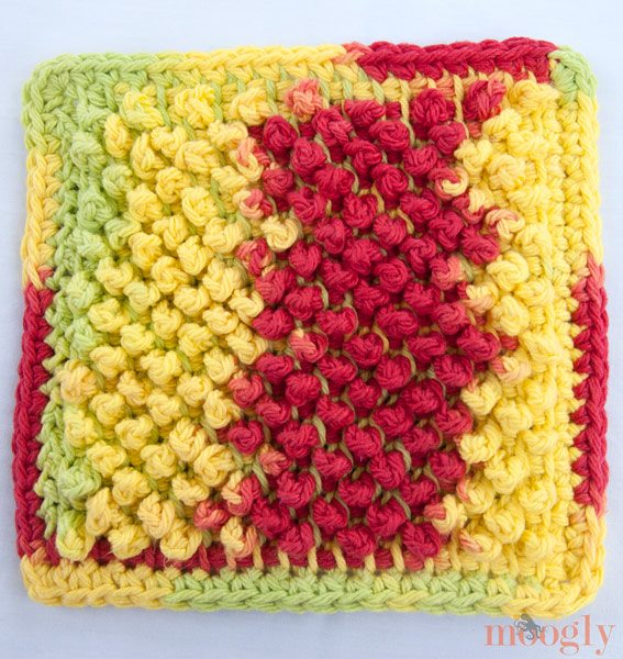 tunisian crochet dishcloth pattern 20 Unique and Beautiful Free Crochet Dishcloth Patterns