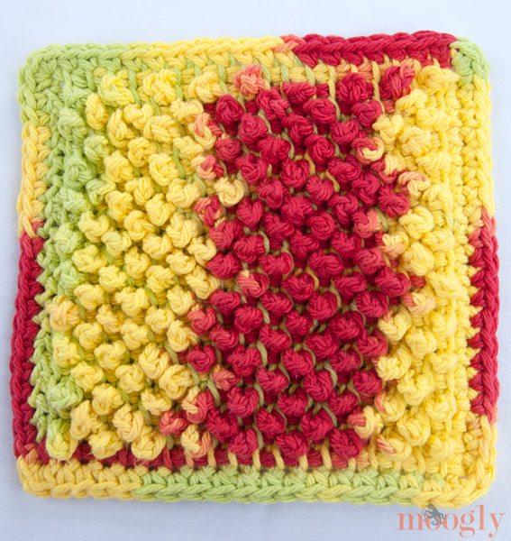 tunisian crochet dishcloth pattern