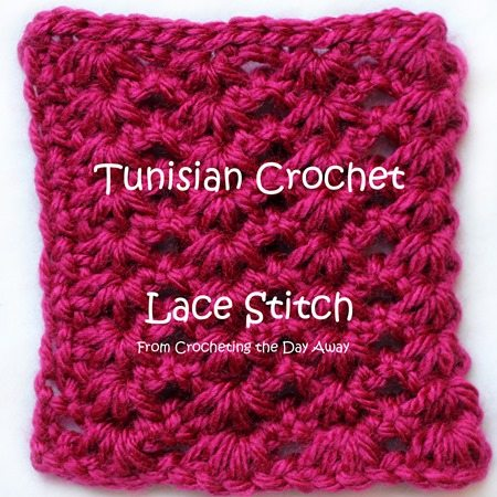 Crochet Stitches Lace : How To: Tunisian Crochet Lace Stitch via @menglar