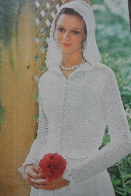 1970s crochet bridal