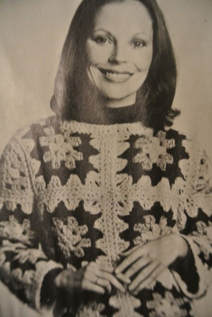 1970s granny square sweater