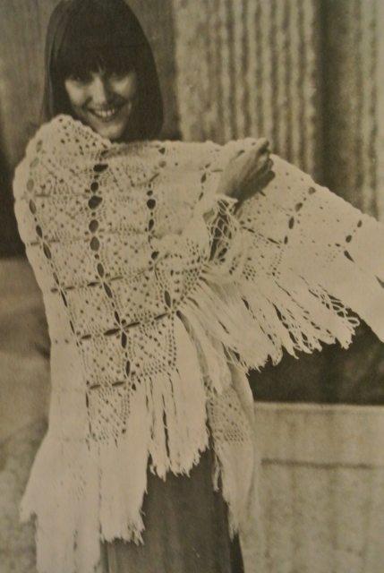 1970s crochet poncho