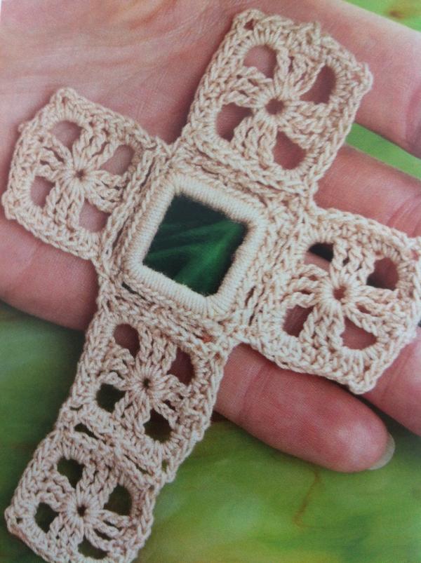 crochet glass bookmark
