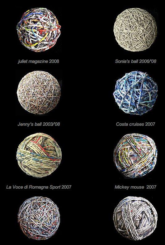 yarn balls as art