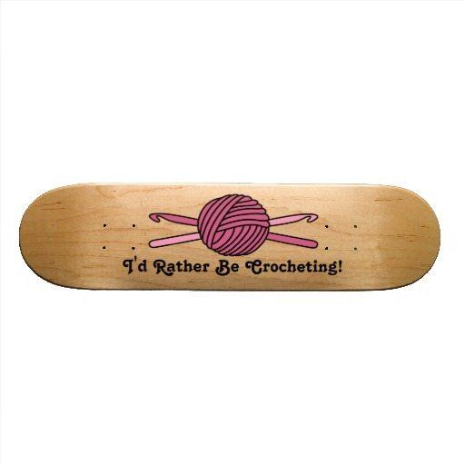 crochet art skate