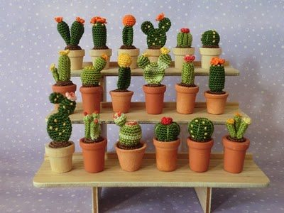 crochet cactus miniatures 20+ Amazing Examples of Teeny Tiny Crochet and Amigurumi