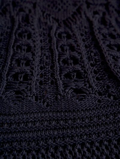 crochet dress detail Designer Crochet Project: Yohji Yamamoto