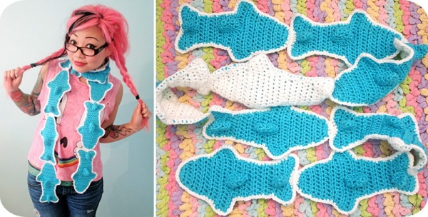 crochet gummy sharks