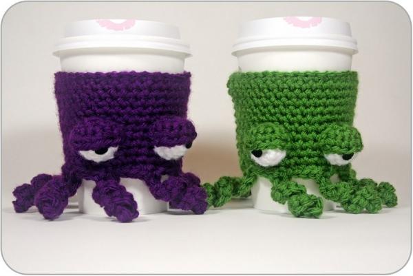 crochet octopus cup