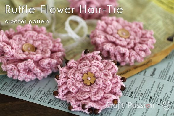 crochet ruffle flower pattern