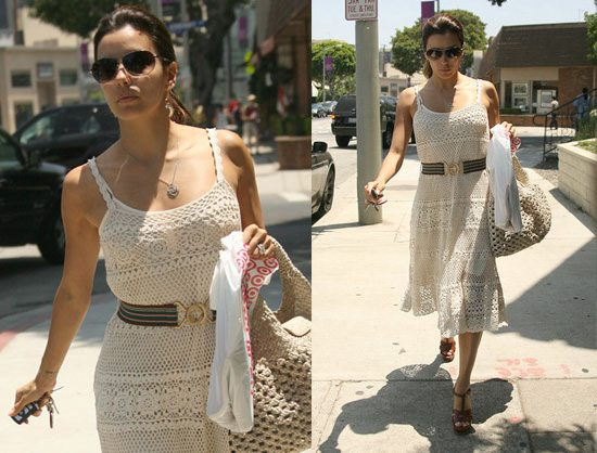 eca longoria crochet 10 Beautiful Celebrities Wearing Crochet