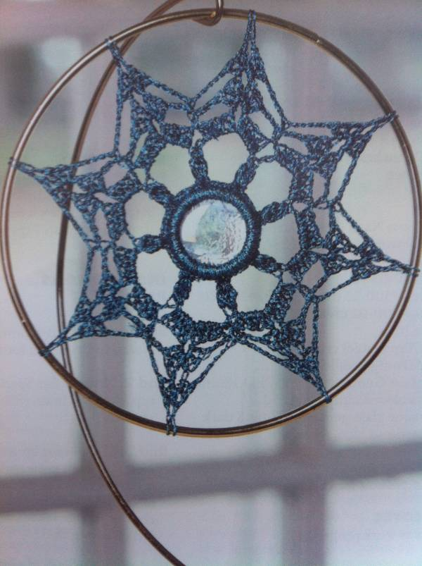 glass crochet suncatcher Link Love: This Week in Crochet Blogging including Free Crochet Pattern Links
