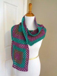 granny square crochet wrap