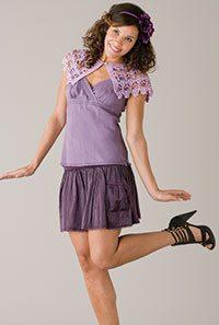lilac crochet shrug pattern