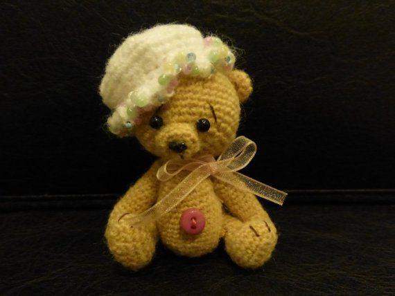miniature crochet bear