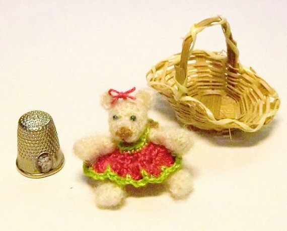 miniature mohair crochet