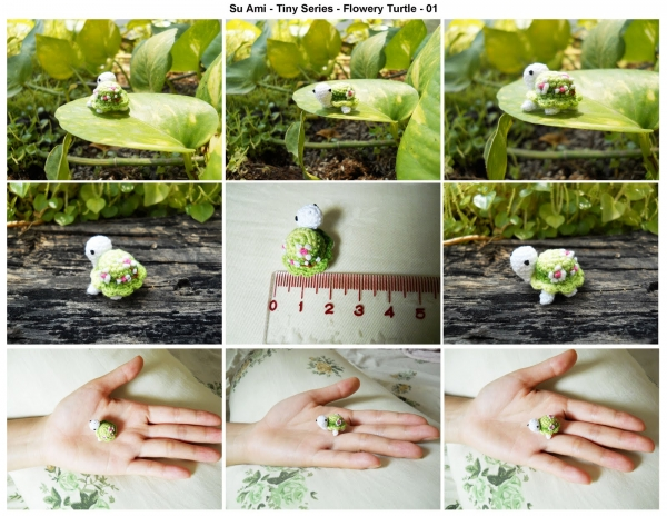 su ami tiny turtle crochet 600x464 20+ Amazing Examples of Teeny Tiny Crochet and Amigurumi
